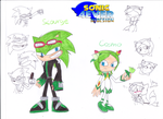Scourge and Cosmo in My Redesign by sonic4ever760