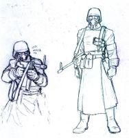 Sketch Future Nazi Soldier by Darcad