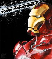 Ironman Watercolors by ellensama
