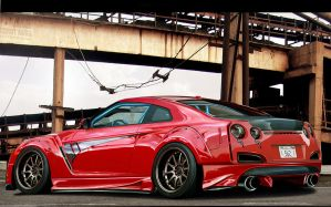 nissan GTR drivte by max-578