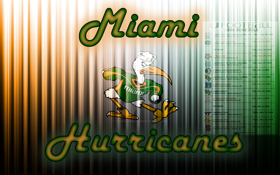 Miami Hurricanes Wallpaper 2 by youngcheezy7