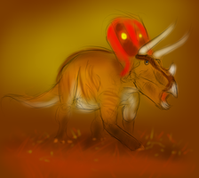 ceratops sketch by SolitaryRonin