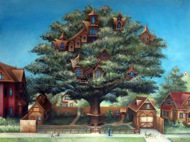 Neighborhood Treehouse by justindmiller
