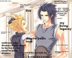 zack fair and cloud strife by yoshihero1