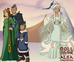 ATLA Couples: Sukka and Yue by GoldenValentine