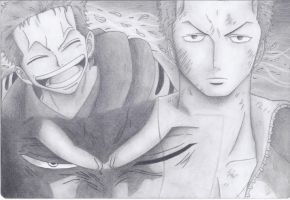 Different faces of Zoro by Sh1roYasha