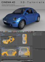C4D VW Beetle Tutorial by 3d-tutorials