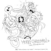 309: XMAS B AND W by crybringer