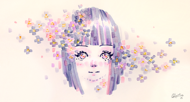 square flowers by Catharin4