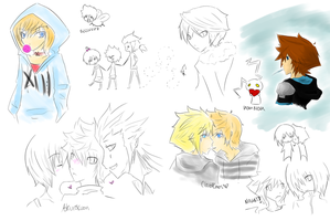 mini kh sketchdump by shugotenshii