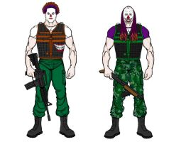 DollHouse Clown Soldiers by digaman