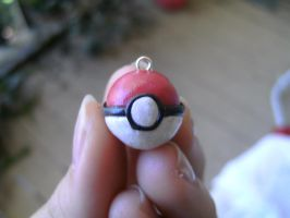 Pokeball Cell Phone Charm by ceciliaalovee