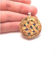Handmade miniature blue berry pie charm by MiniSweetx