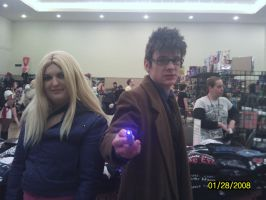 Doctor who and  Rose Tyler by reretiger