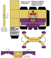 Paper toy a day Blitzwing V.2 by Tim1995