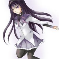 I will protect. Homura Akemi. by cafe-au-pink
