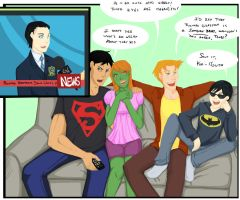 Dick Grayson on the news by Sakurita94