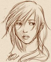 FF13 - Lightning Portrait by SchizoCheese