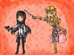 zelda and homura by ninpeachlover