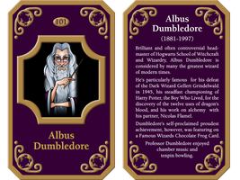Famous Wizard Cards: Albus Dumbledore by GeorgeWiseman