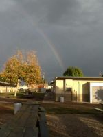 Rainbow at my school home by foxy21a72