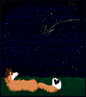meteor shower by acryliced
