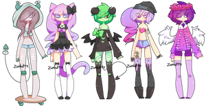 Adoptables Batch 14: CLOSED by Zombutts