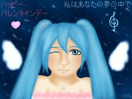 Miku Hatsune Valentine's Day by Vocaloidstars
