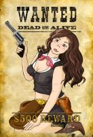 Outlaw Cowgirl Pin-Up by Metallicar-67