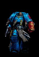 Crimson Fist Space Marine by LionElJonson
