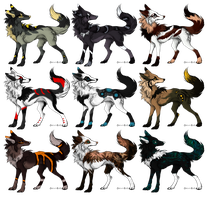 Batch 18 .:OPEN:. name your price by Mireille-Adopts