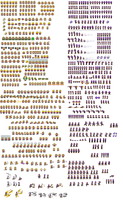 SMBGT - Wario and Waluigi sprite sheet by KingAsylus91