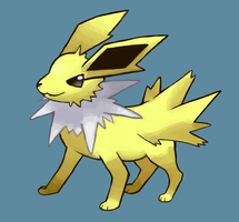 Jolteon Painting by SupahSanti