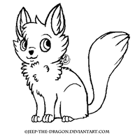 Free cat lineart by Jeep-The-Dragon