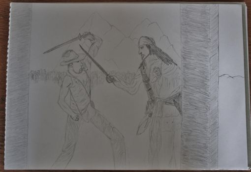 Indiana Jones vs Jack Sparrow by StevenDrawings