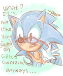 Sonic's glasses by chibiirose