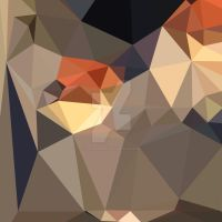 Cool Black Blue Brown Abstract Low Polygon Backgro by apatrimonio