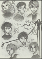 MarbleHornets n TwelveTribe doodles by Cageyshick05