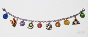 Ocarina of Time Charm Bracelet by raiyneofgailin