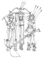 Bow Girls B+W by SozokuReed