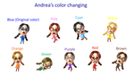 Andrea's Different Color Changing by Starlight790