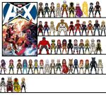Micro Heroes: Avengers vs X-Men Round 2 by GEEKINELL