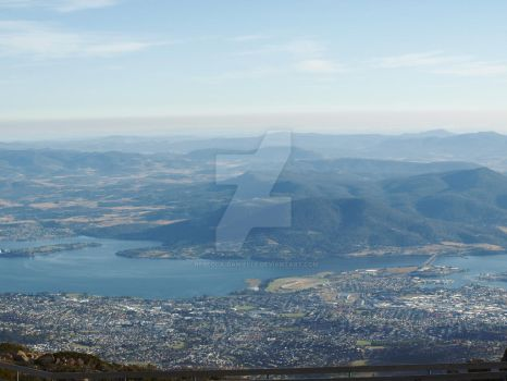 View from Kunanyi / Mount Wellington by Rebecca-Danielle