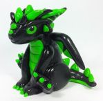 Draco the Miniature Dragon (Sold) by prismaticpearls