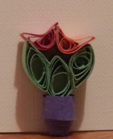 Tiny Tulips Quilling by crochetamommy