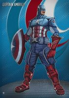 Captain america by huzzain