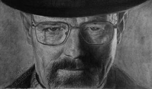 Walter white (portrait) by digitalcc