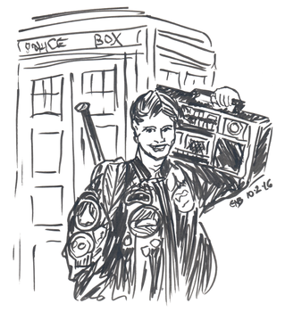 Inktober 2016 - Ace Mcshane and Boombox (2) by Circular-Time