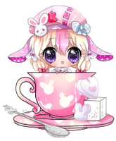 Mimi heartpuff teacup by BiPinkBunny