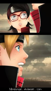 Boruto chap 10 : Sarada_Boruto : Who is he by MimiSempai